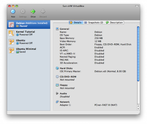 The VirtualBox Graphical User Interface