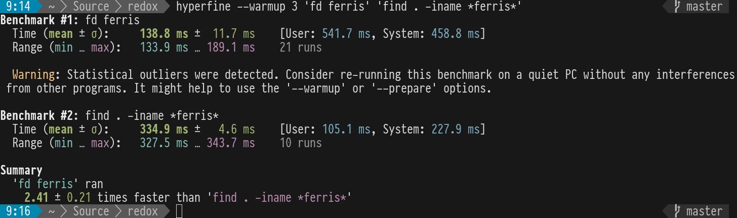 hyperfine screenshot